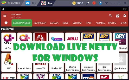Live NetTV for Windows 7 8 10 Mac PC Laptop